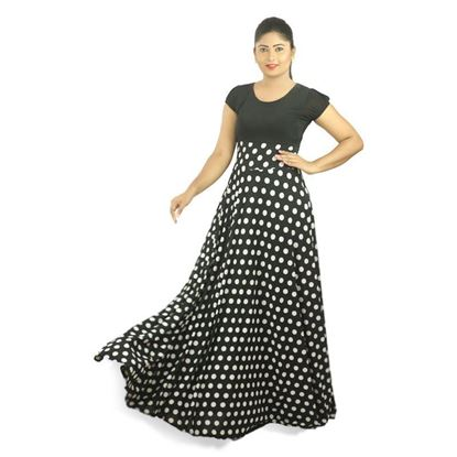 Picture of Polka dot design maxi dress