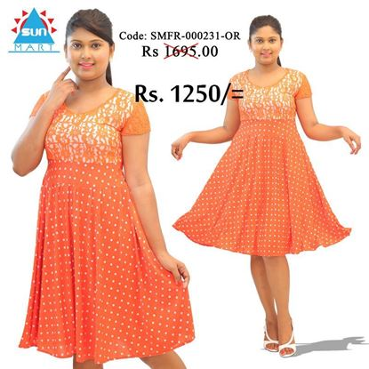 Picture of Orange dot with lace frock