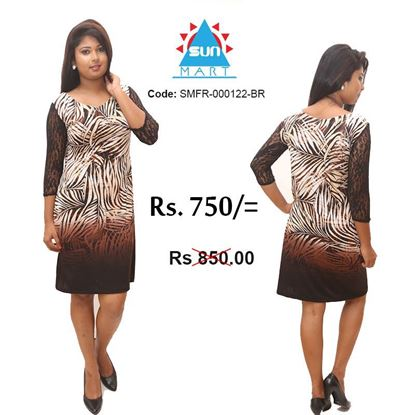 Picture of Leave design tight frock