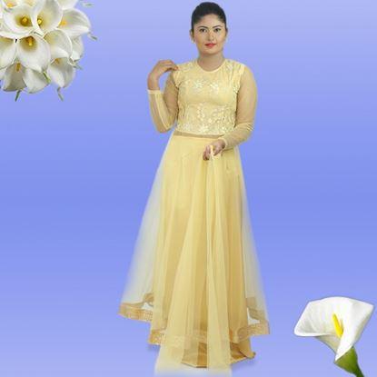 Full Gold Lace and net mixed Lehanga