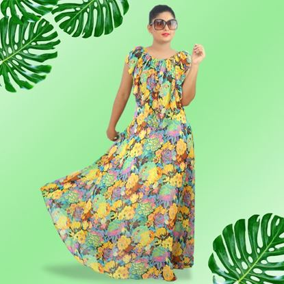 Picture of Frilled georgette maxi dress