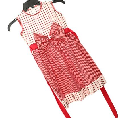 Kids Frock Sleeve less with a bow