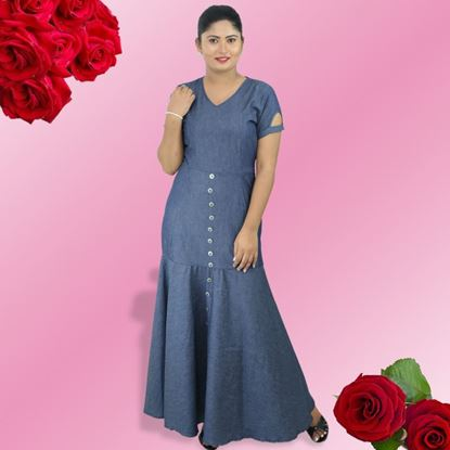 Picture of Chambray princess line long frock