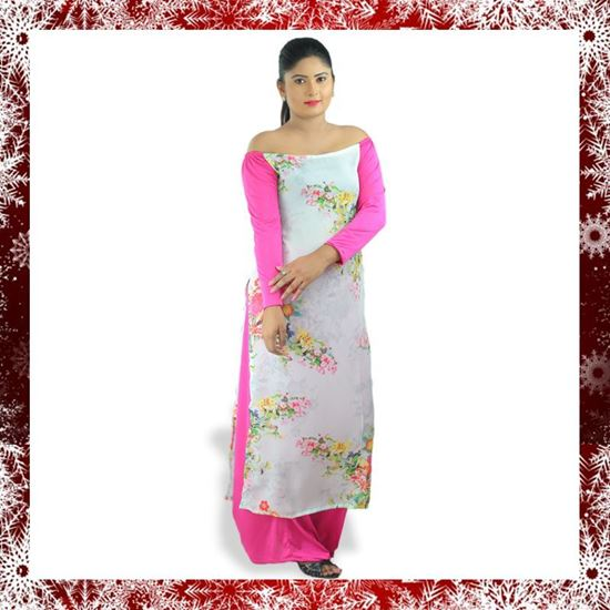 Picture of Georgette long top with skirt