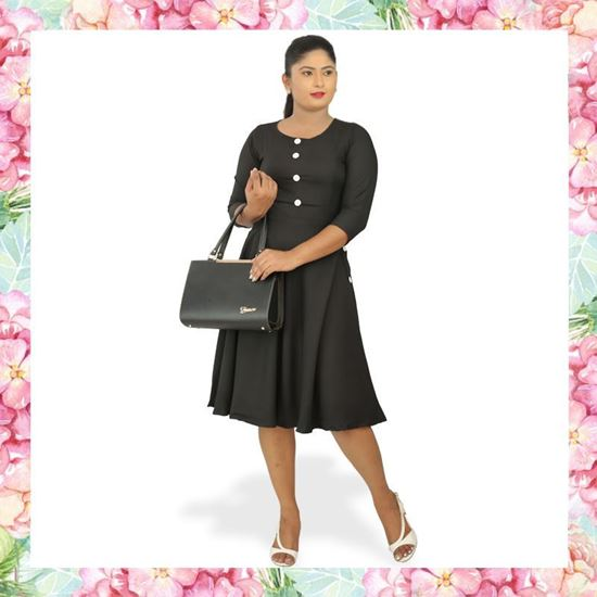 Picture of Button Embelleshed A-line Dress