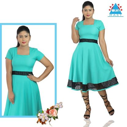 Picture of Flared Frock with lace Border