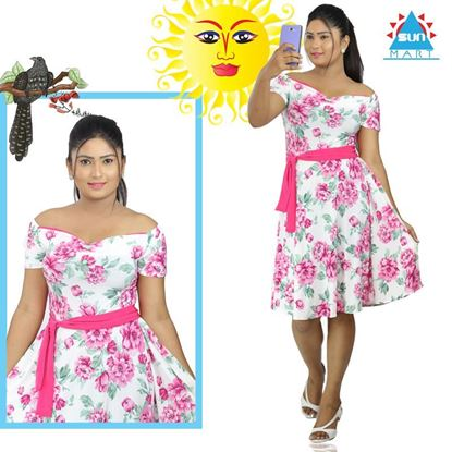 Picture of Roses Designed Short Frock