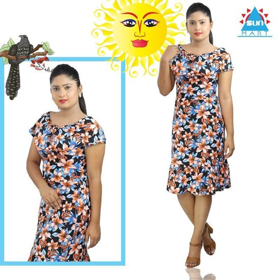 #Flower design short frock with frill