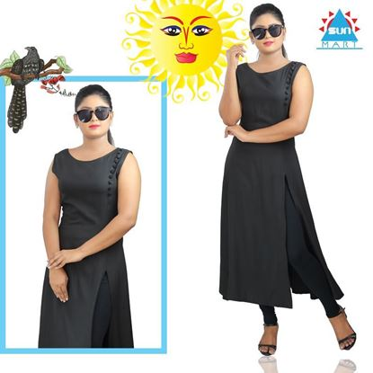 Picture of Sleeveless long kurtha top