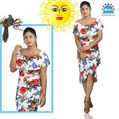 Picture of Floral design frock with frill