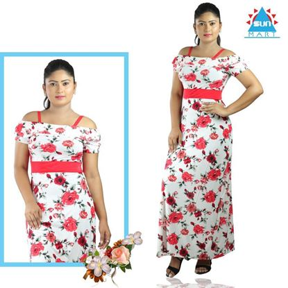 Picture of Frilled Red Roses A-line Dress