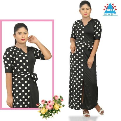 Picture of Polka Designed Long Dress