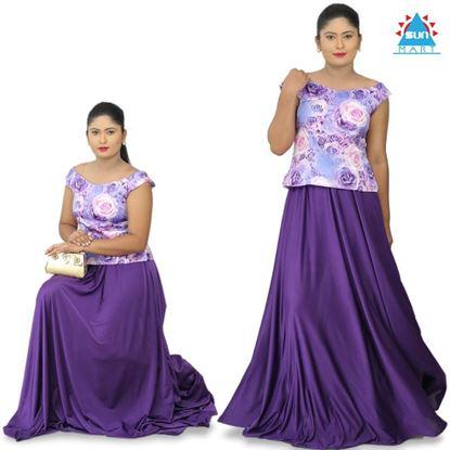 Picture of Purple Roses Lehenga Kit