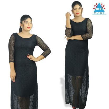 Picture of Black lace long dress