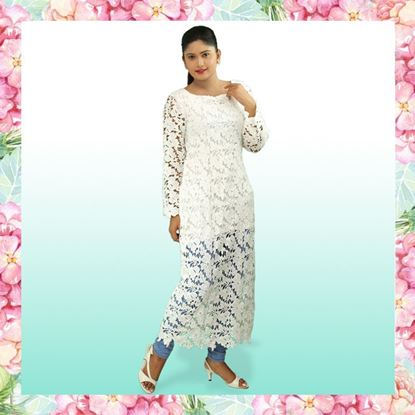 Picture of Full Sleeve Long Top with Lace