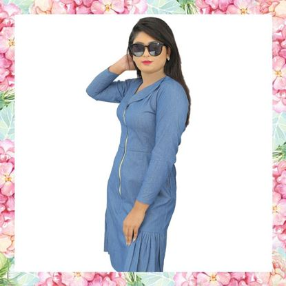 Picture of Chambray fishtail dress