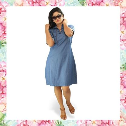 Picture of Denim Tie-up Frock