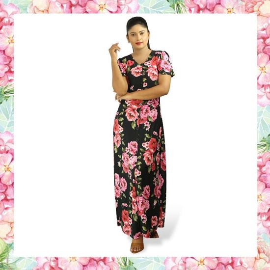 Picture of Floral designed stretch maxi dress