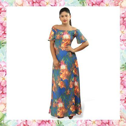 Picture of Off shoulder  valentina maxi dress