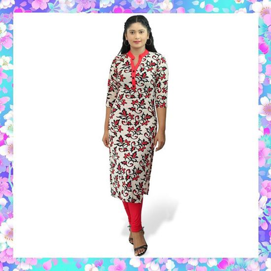 Picture of High necked long kurtha top