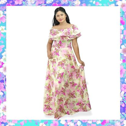Picture of Double frilled maxi dress