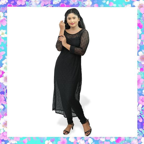 Picture of Long sleeves full lace black top