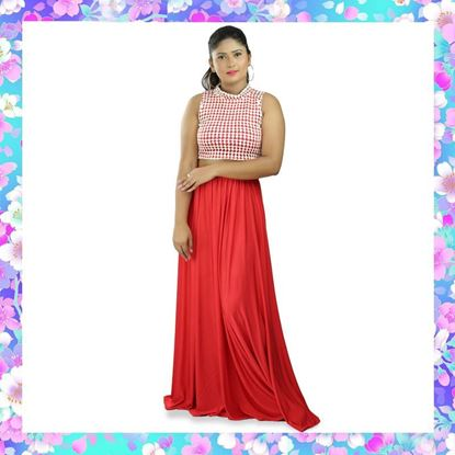 Picture of Two-way Stretch Skirt with Sleeveless Blouse