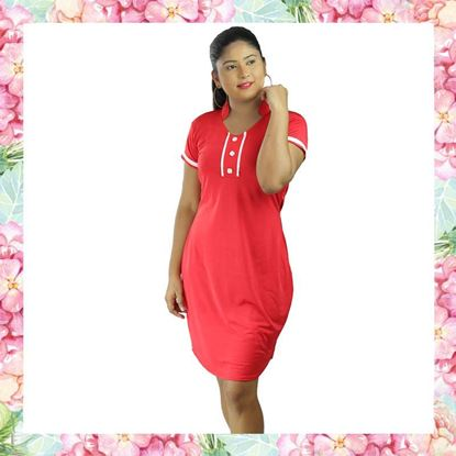 Picture of Body con Short Frock with Short Sleeves