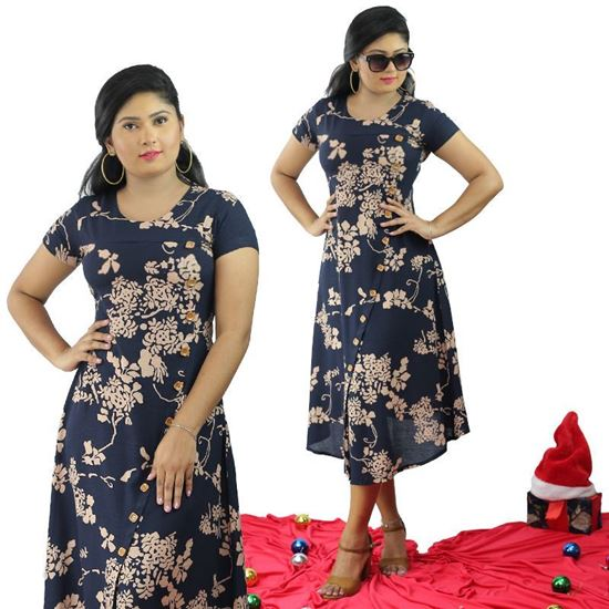 Picture of Round Necked Short Frock with Short Sleeves