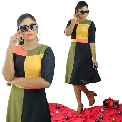 Picture of Four color short linen frock