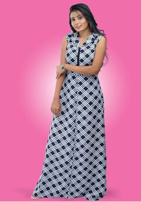 Picture of Check designed Collared Maxi frock
