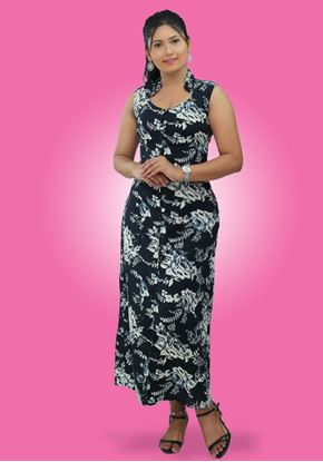 Picture of Sleeveless  A-Line Maxi Dress