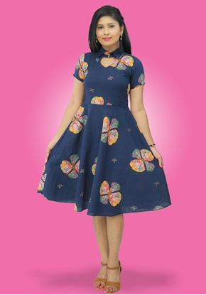 Picture of Heart Necked Shaped Short Dress