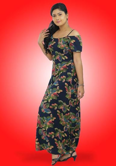 Picture of Off Shoulder  Maxi Dress with Short Sleeves