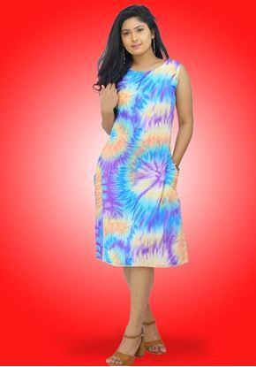 Picture of Printed Designed Sleeveless Midi Dress