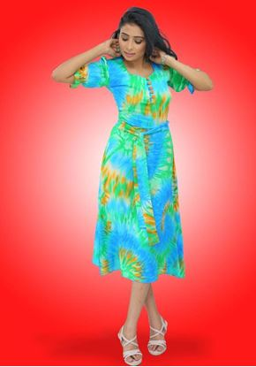 Picture of Sweet Heart Necked Printed Designed Short Frock