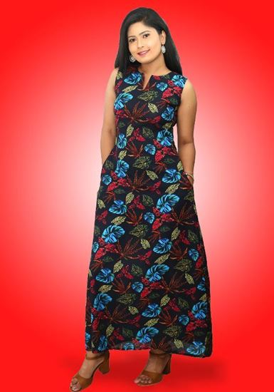 Picture of Sleeveless A-line Maxi Dress with Pockets