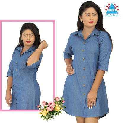 Picture of Shirt Dress - Chambray